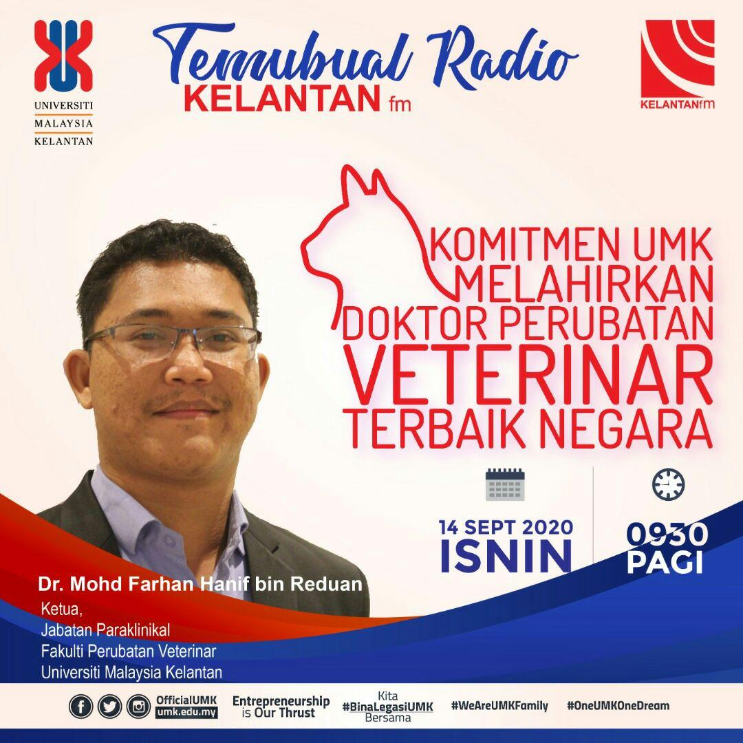 Kelantan.fm Interview with our Head of Paraclinical Department